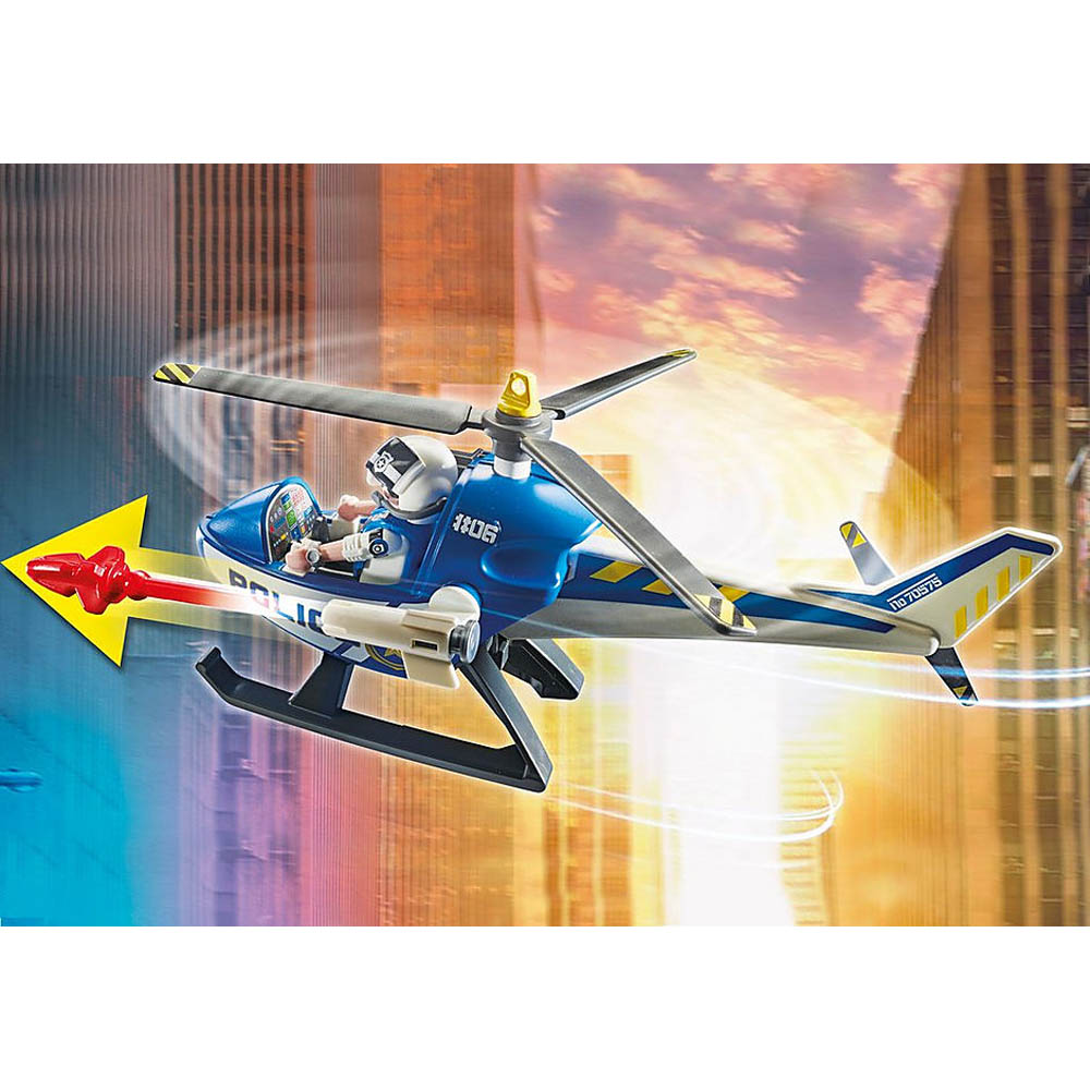Playmobil - Perseguição Policial com Helicóptero e Van
