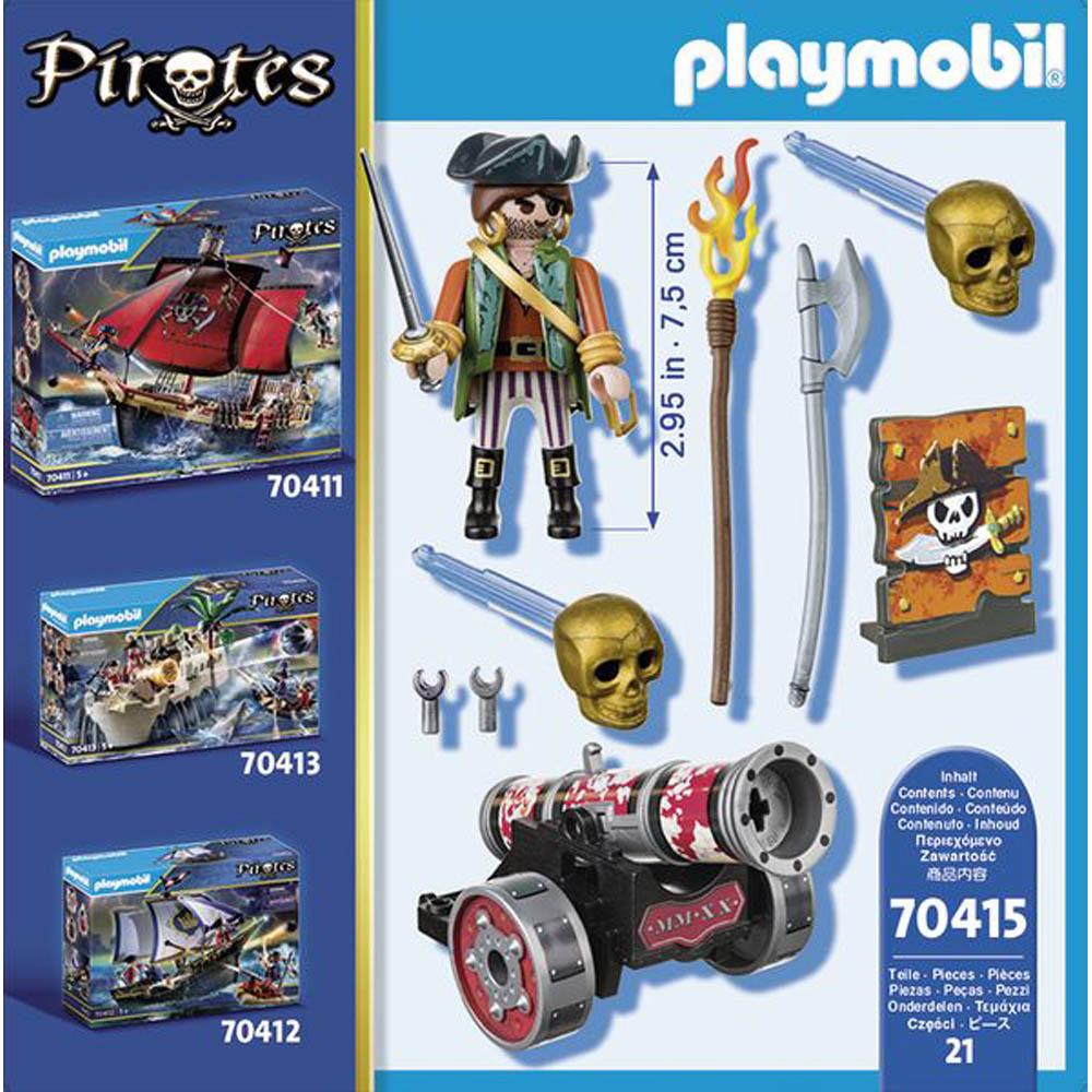 Playmobil - Pirata Com Canhão