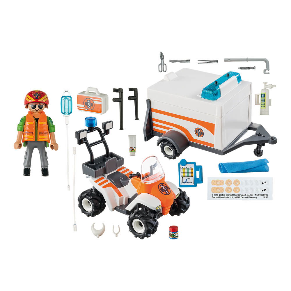 Playmobil - Quadriciclo De Resgate Com Reboque