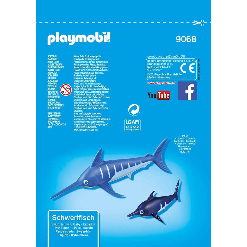 Playmobil -  Saquinhos Com Animais - Peixe Espada Com Filhote