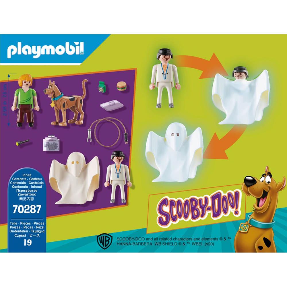 Playmobil - Scooby & Salsicha Com Fantasma