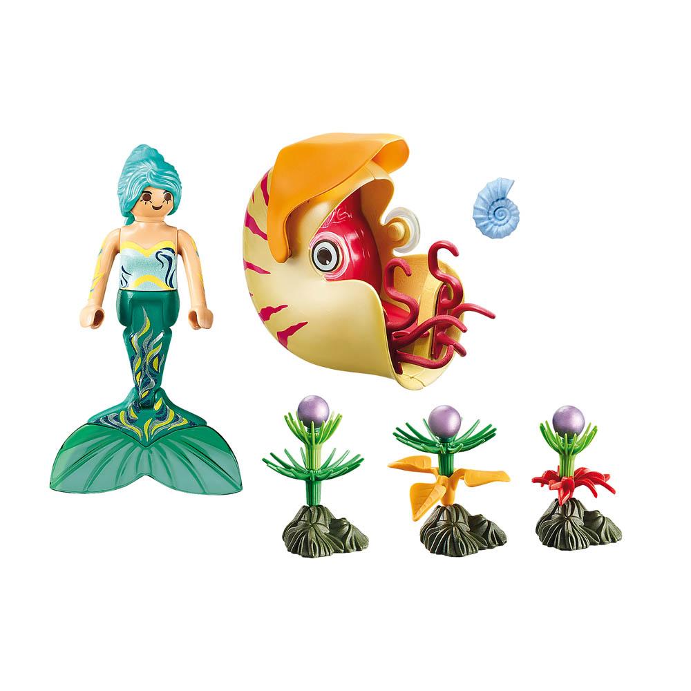Playmobil - Sereia Com Gôndola De Caracol Do Mar