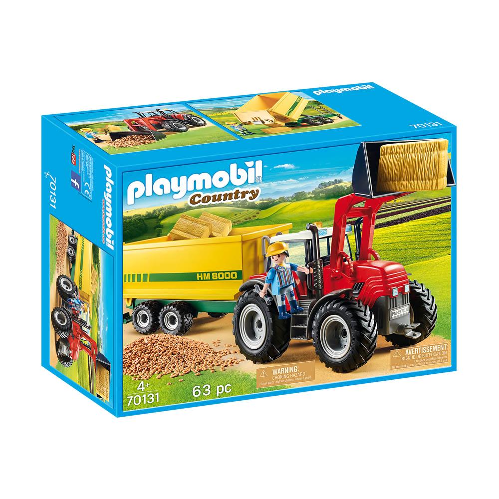 Playmobil - Trator Com Reboque