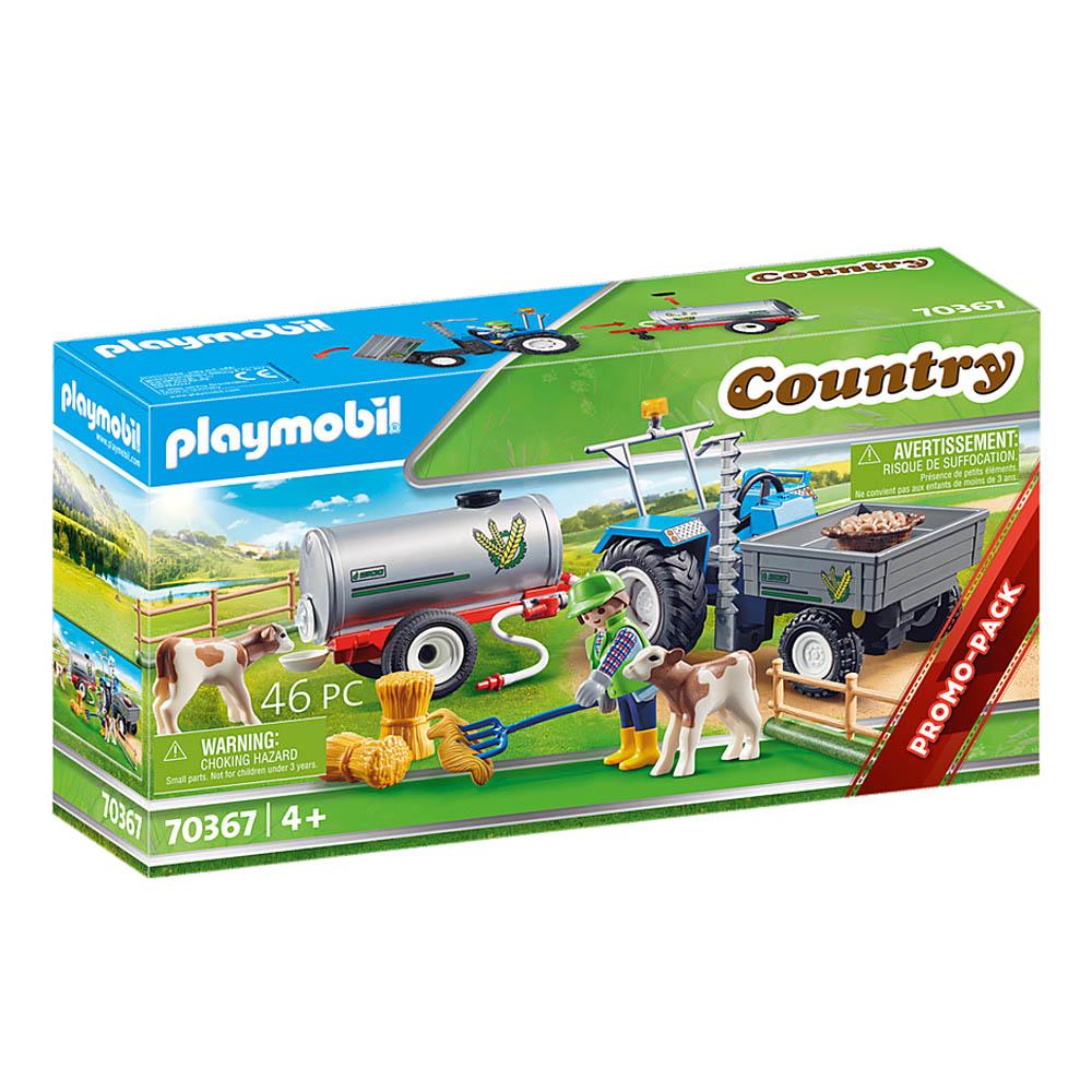 Playmobil - Trator Com Tanque Para Água