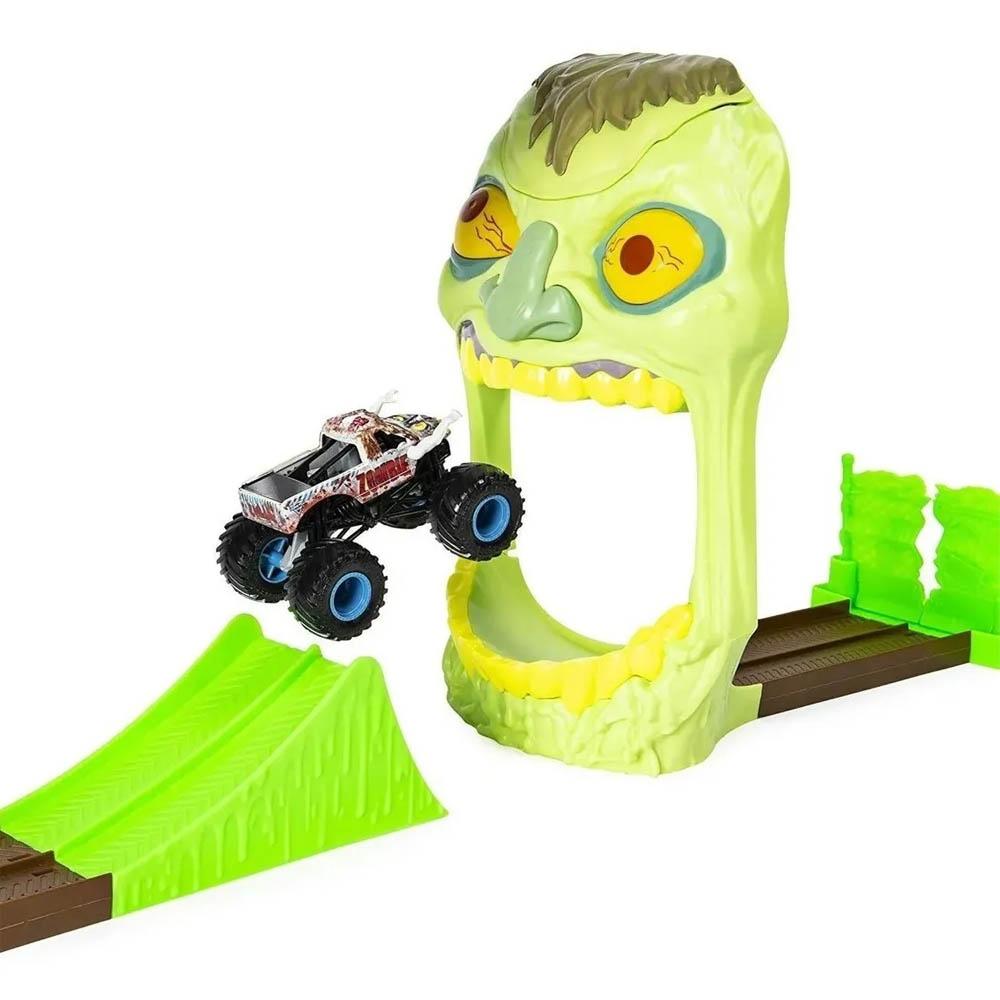 Monster Jam - Escala 1:64 - Playset Com Pista E Carro - Zombie