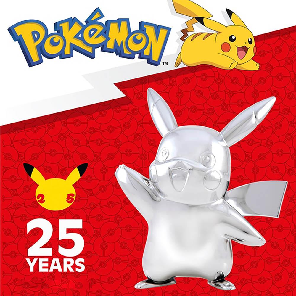 Pokemon - Celebrate Figuras de Batalha Prata - Pikachu