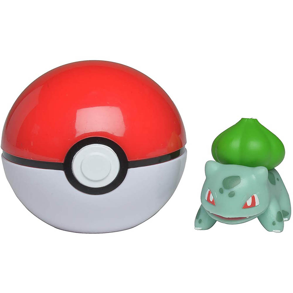 Pokémon - Clip De Pokébola - Bulbasauro + Poké Ball
