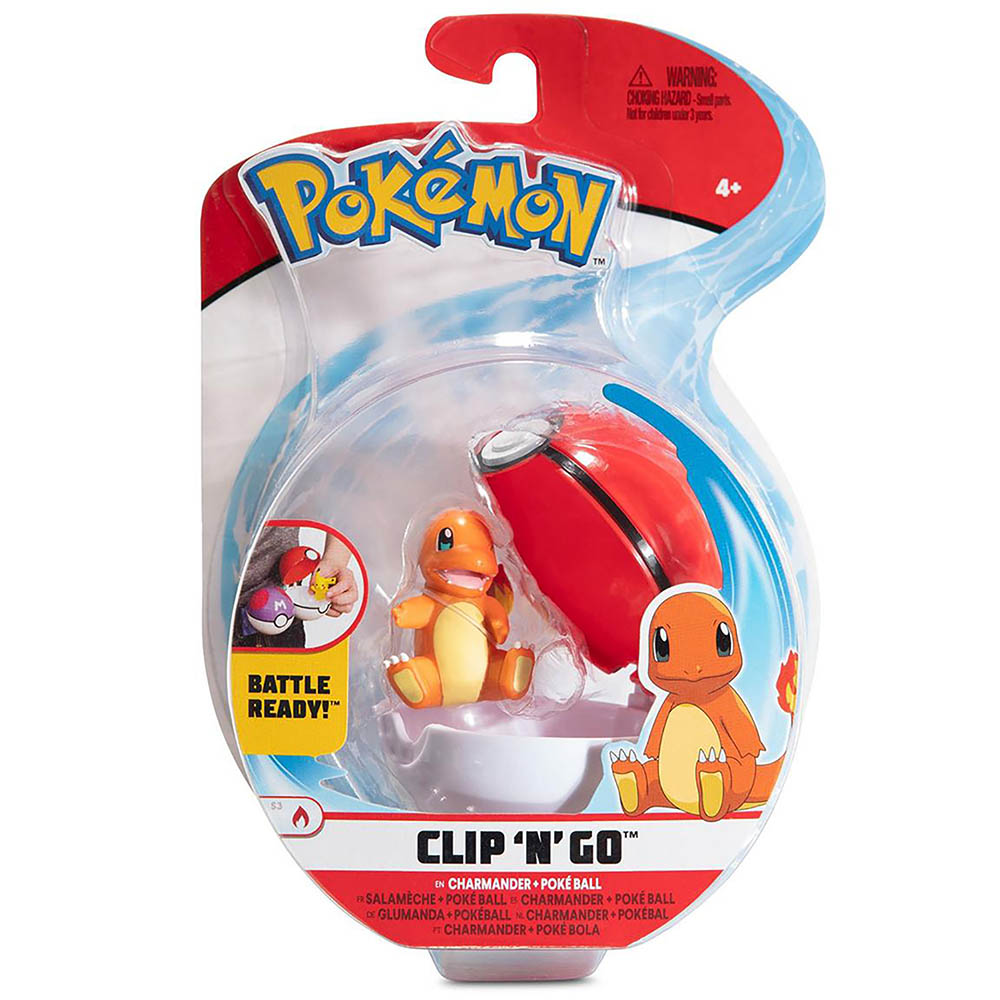 Pokémon - Clip De Pokébola - Charmander + Poké Ball