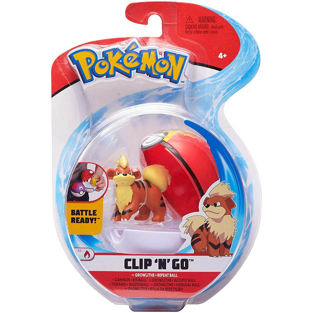 Pokémon - Clip De Pokébola - Growlithe + Repeat Ball