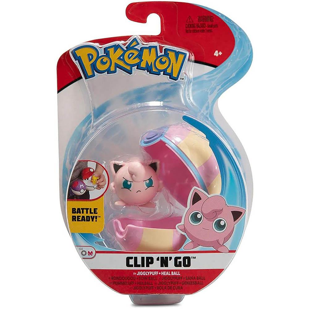 Pokémon - Clip De Pokébola - Jigglypuff + Heal Ball