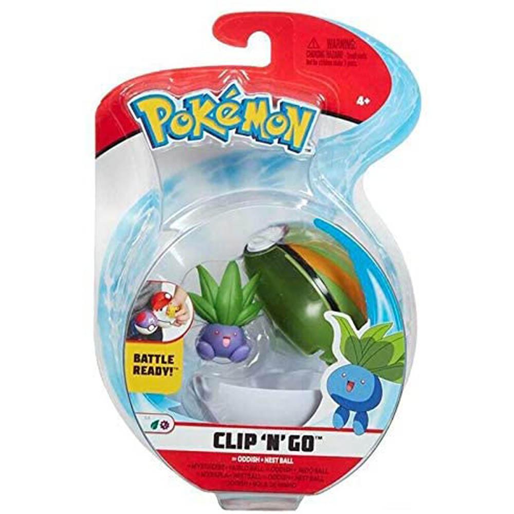 Pokémon - Clip De Pokébola - Oddish + Nest Ball