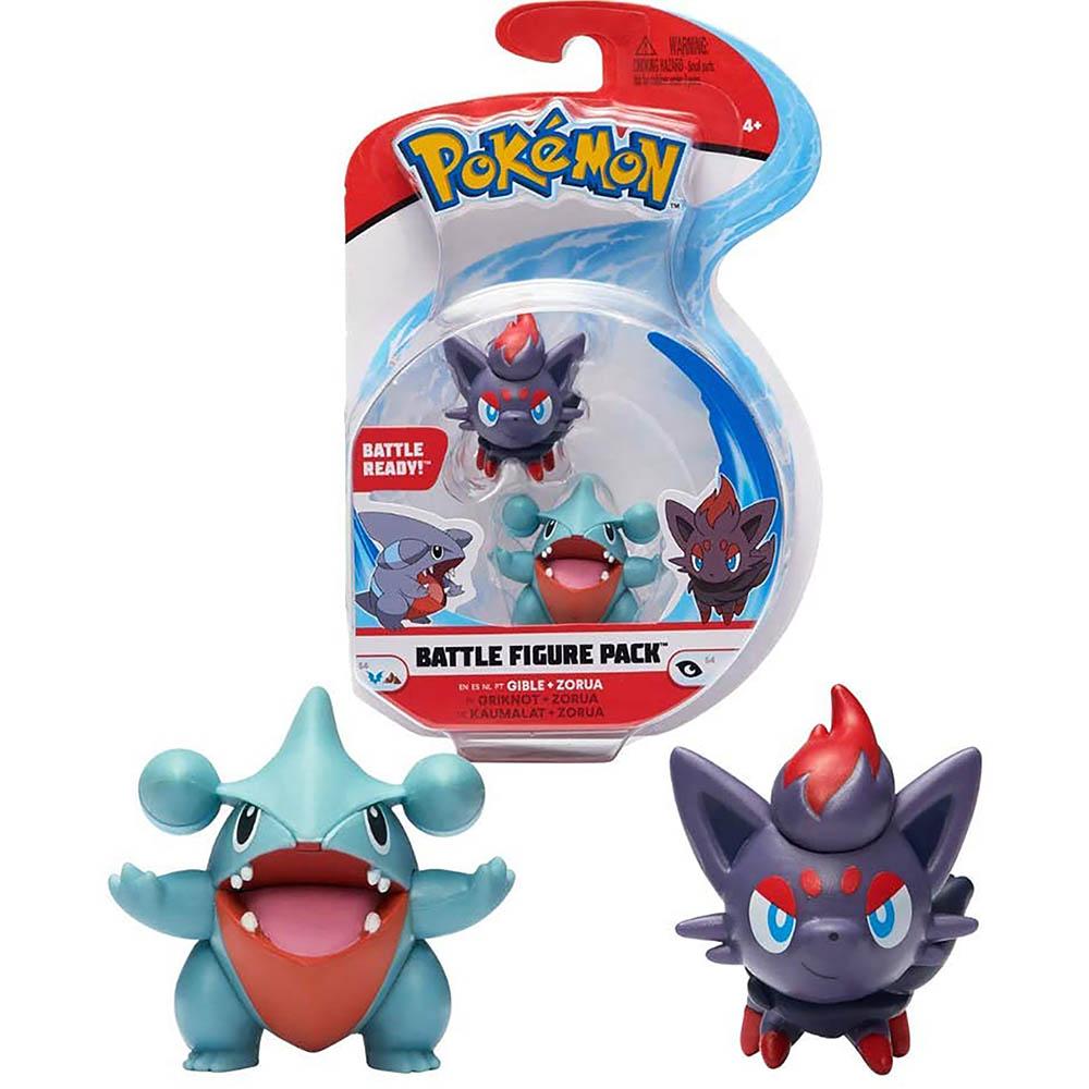 Pokémon - Figuras De Ação - Gible + Zorua - Sunny