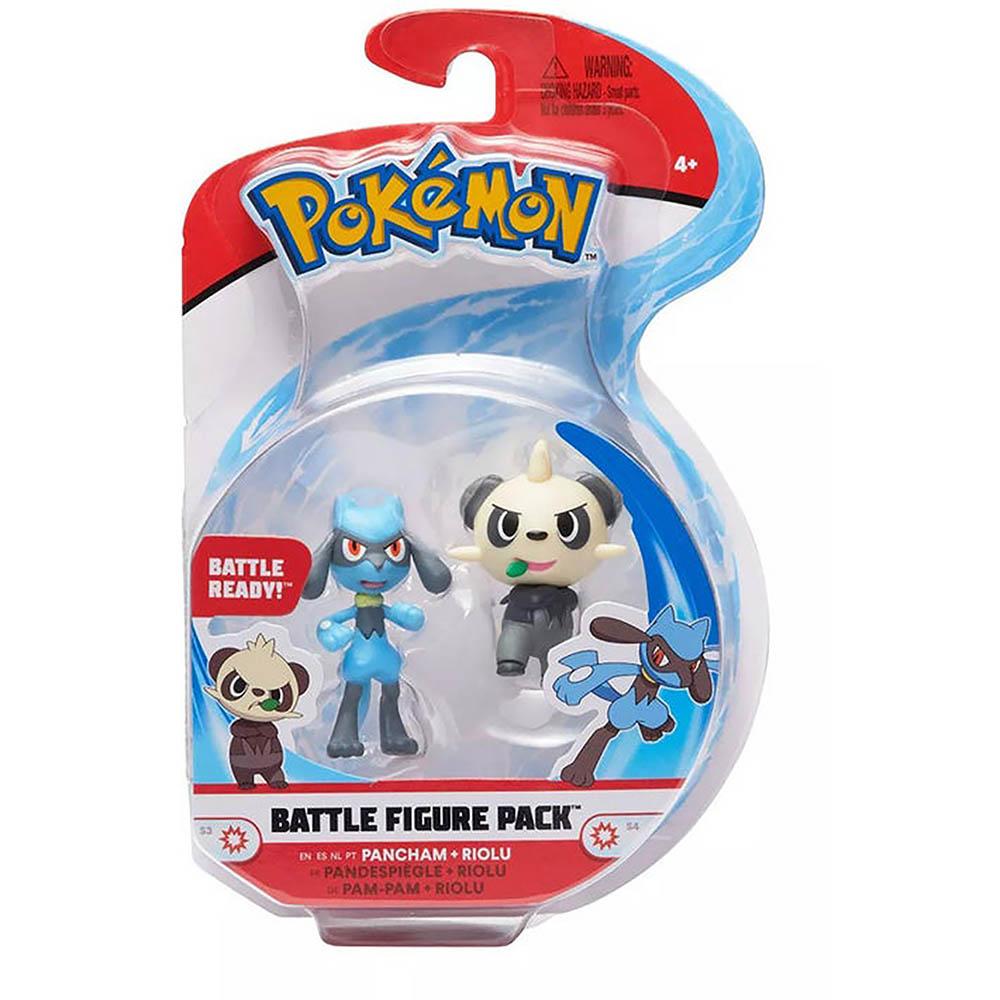 Pokémon - Figuras De Ação - Pancham + Riolu - Sunny