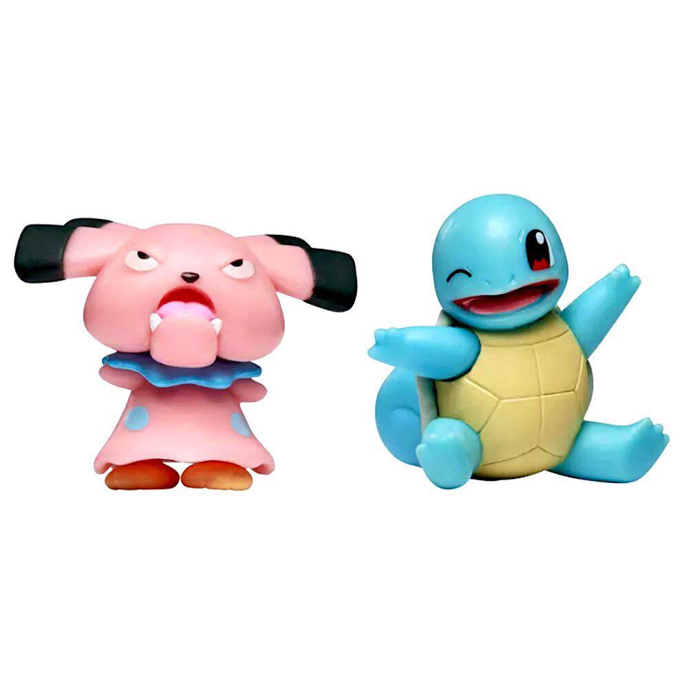 Pokémon - Figuras de Ação - SNUBBULL + SQUIRTLE