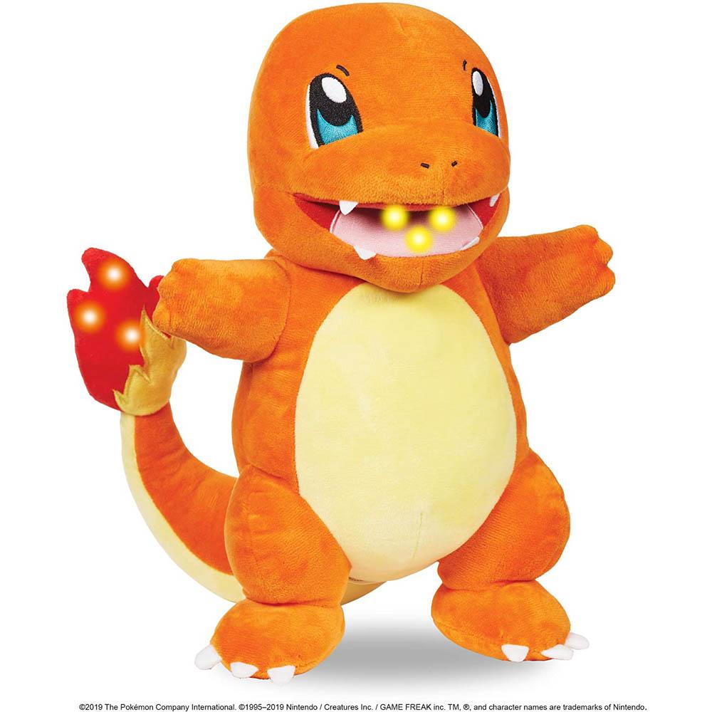 Pokémon - Pelúcia Do Charmander Com Luz E Som
