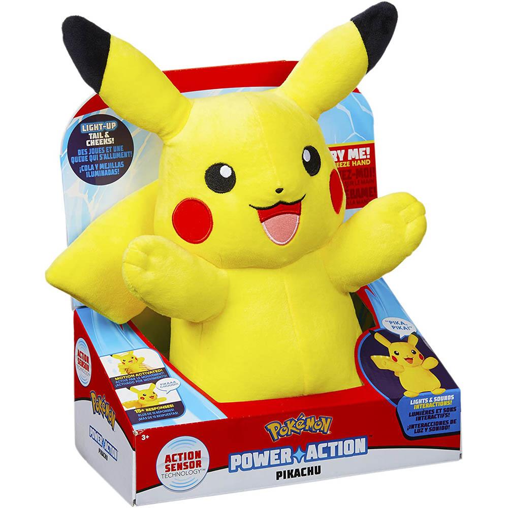 Pokémon - Pelúcia Do Pikachu Com Luz E Som