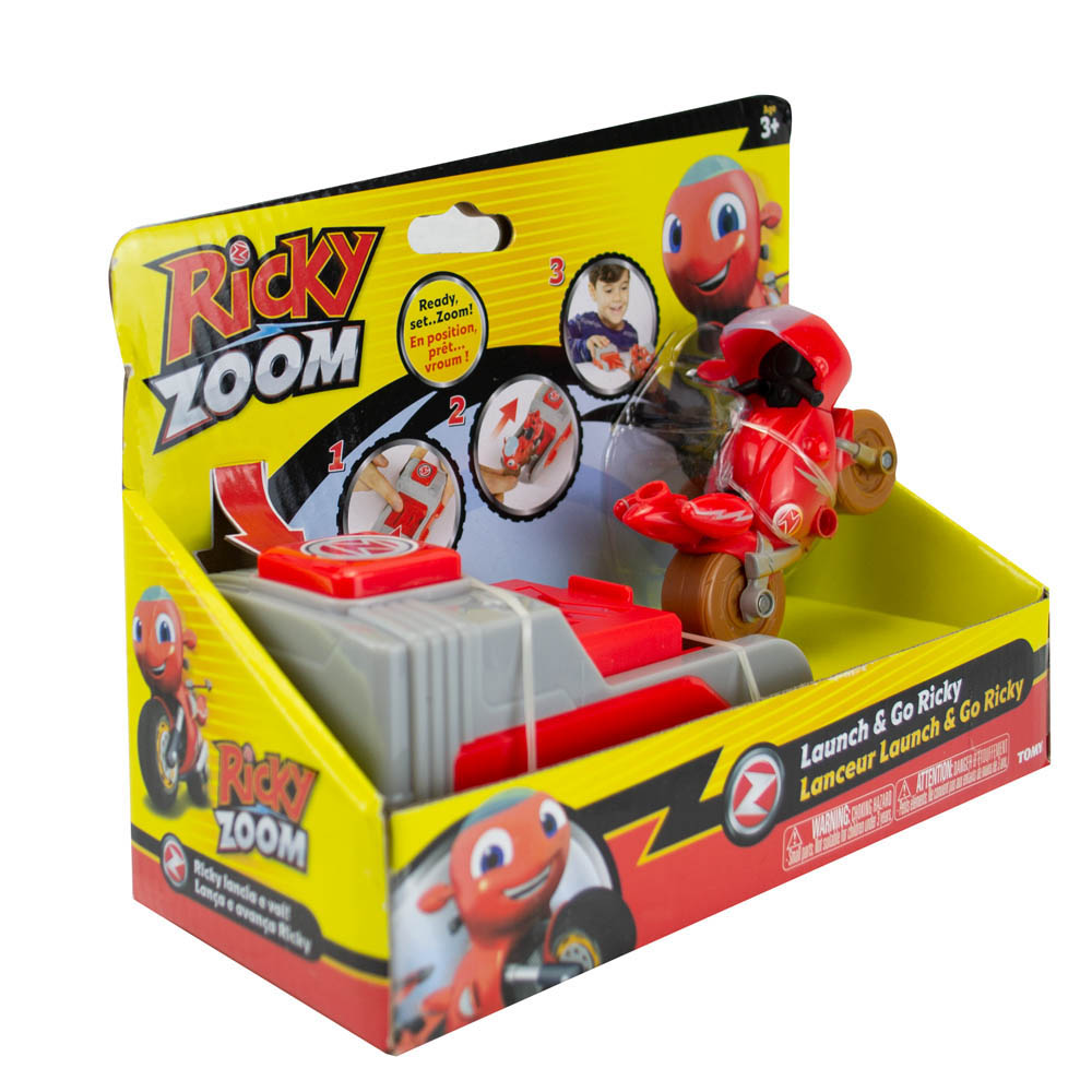 Ricky Zoom - Com Lançador - Ricky