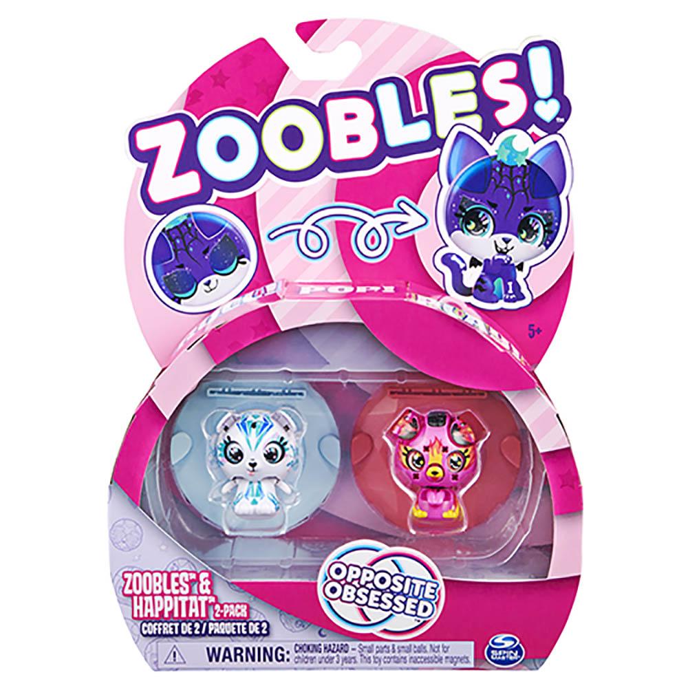 Zoobles - 2 figuras - Icy Polar Bear e Firey Puppy