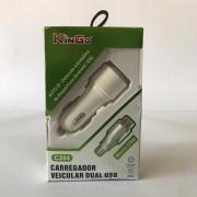 Carregador Veicular Dual Usb C204 Micro Usb