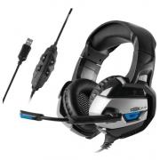 Fone De Ouvido Gamer 7.1 Usb C/ Microfone E Led Dex - Df-101