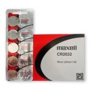 Pilha / Bateria Lithium Cr2032 Maxell Cartela C/ 5un