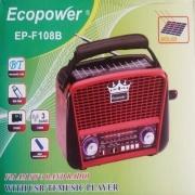 Rádio Ecopower Ep-f108b - Sd/usb/bluetooth