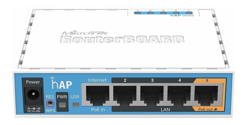 Access Point Indoor Mikrotik Routerboard Hap Ac Lite Rb952ui-5ac2nd Azul E Branco