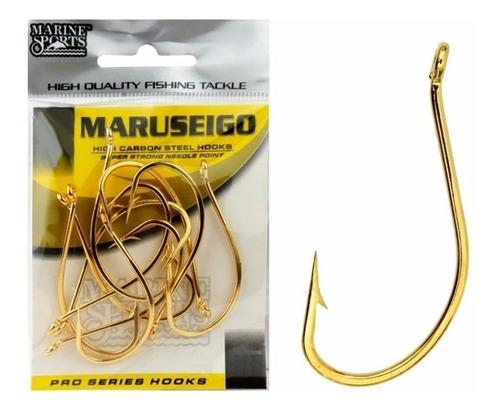Anzol Pesca Cartela Marine Maruseigo Gold N 12 Com 50 Peças