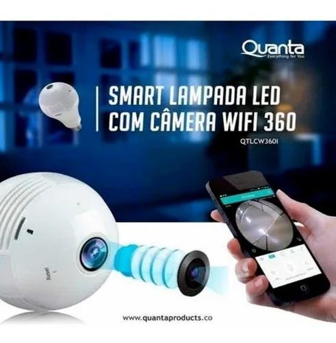 Câmera De Segurança Quanta - Qtlcw360i Lâmpada Led 360