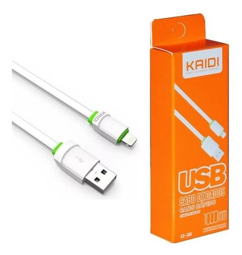 Carregador Ios Lightning Kaide Kd- 306 Para iPhone