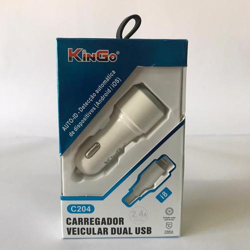Carregador Veicular iPhone - Kingo C204