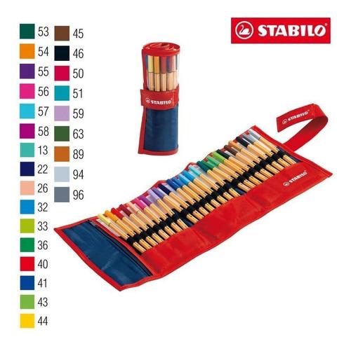 Estojo Caneta Stabilo Rollerset 8825-021 C/ 25 Un