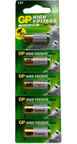 Kit 5 Baterias 12 Volts GP 23AF-2KX5