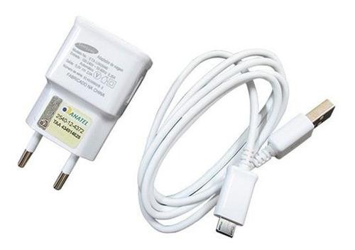 Kit Carregador Usb + Cabo Micro Usb/v8 Samsung -branco
