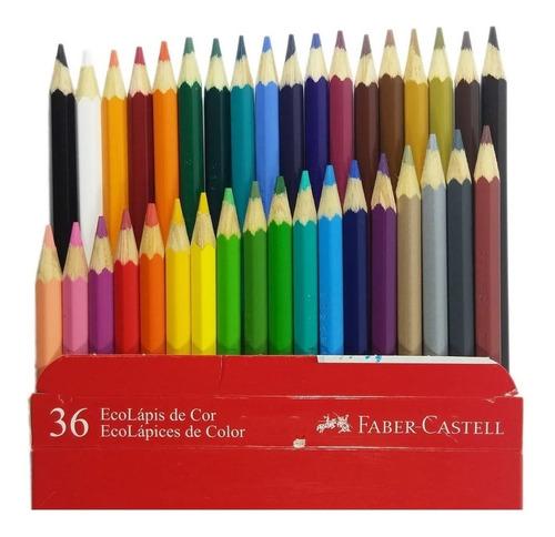 Lápis De Cor Ecolápis Ponta Max Faber Castell 36 Cores