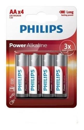 Pilha Philips Aa 1.5v Power Alkaline 4un