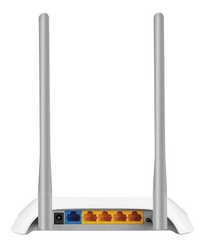 Roteador Tp-link Tl-wr849n Branco E Prata 110v/220v