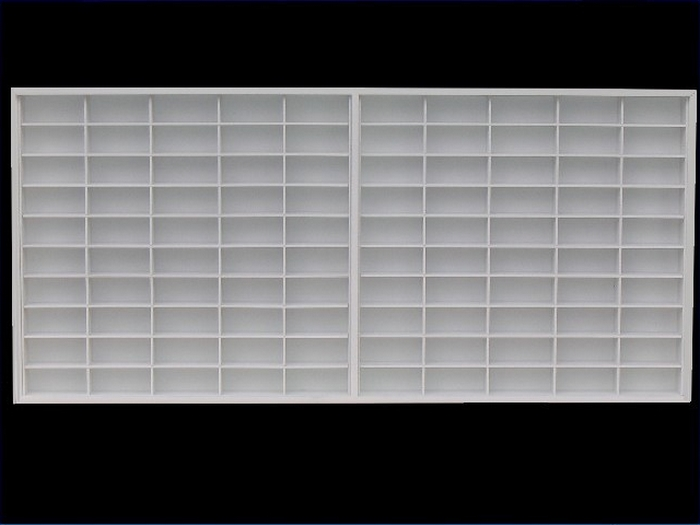 #100 DIECAST DISPLAY CASE - 1:64 [Branco]  - Hobby Lobby CollectorStore