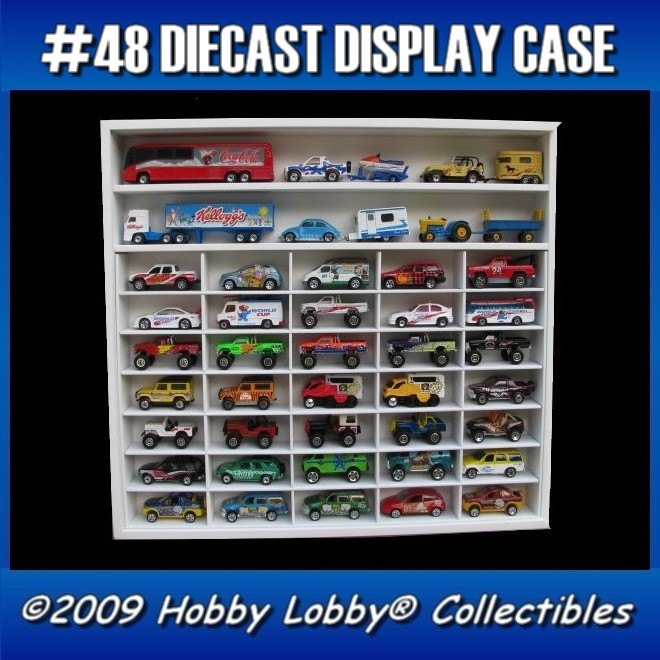 #37 DIECAST DISPLAY CASE - 1:64 [Branco]  - Hobby Lobby CollectorStore