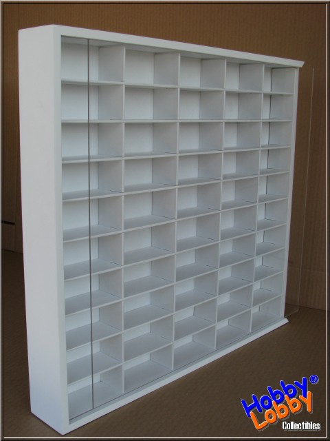 #45 DIECAST DISPLAY CASE - 1:64 [Branco]  - Hobby Lobby CollectorStore