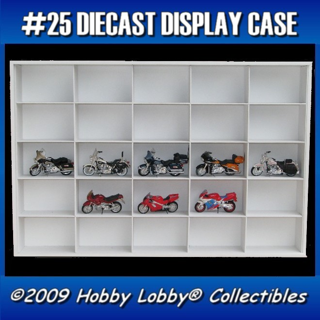 #25 MOTO DIECAST DISPLAY CASE - 1:18 [Branco]  - Hobby Lobby CollectorStore