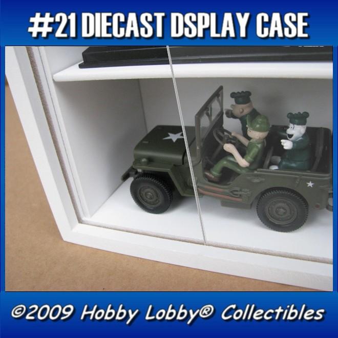 #21 MULTI DIECAST DISPLAY CASE [Branco]  - Hobby Lobby CollectorStore