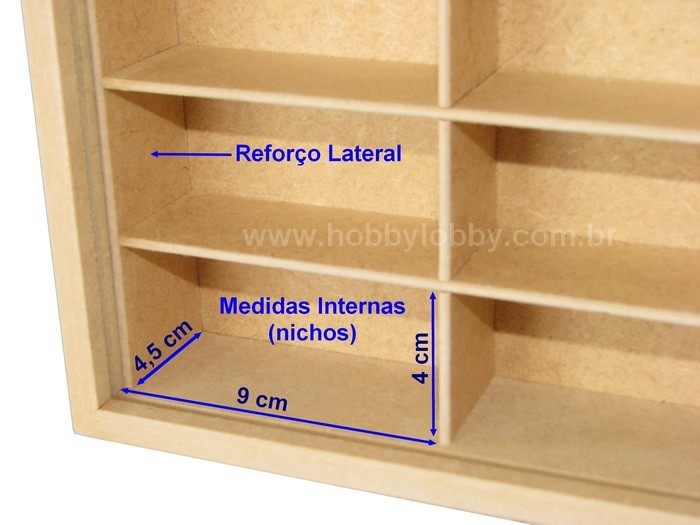 #50 DIECAST DISPLAY CASE [MDF In Natura]  - Hobby Lobby CollectorStore