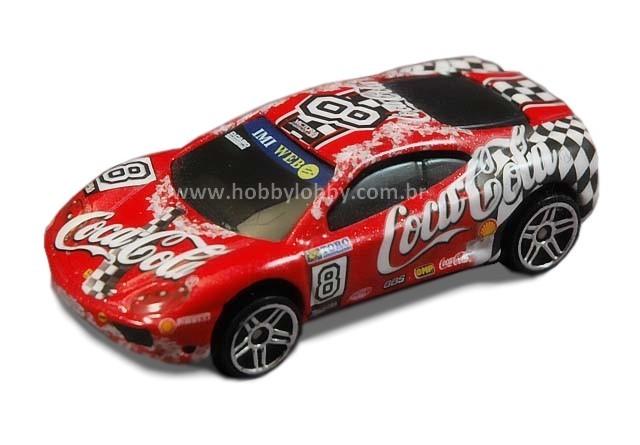 Hot Wheels - Coca Cola - 360 Ferrari Challenge  - Hobby Lobby CollectorStore