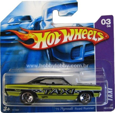Hot Wheels - Coleção xxxx - ´70 Plymouth Road Runner  - Hobby Lobby CollectorStore