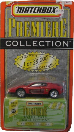 Matchbox - Ferrari Testarossa  - Hobby Lobby CollectorStore