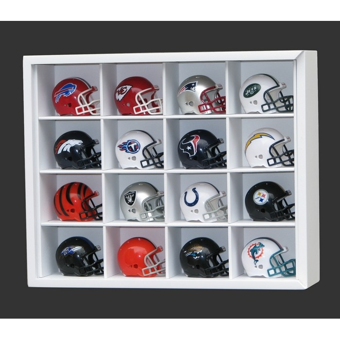 #16 HELMET DISPLAY CASE [Branco]  - Hobby Lobby CollectorStore