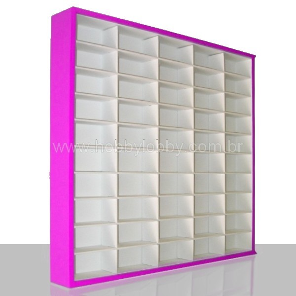 #50 DIECAST DISPLAY CASE - 1:64 [Cor: Rosa]
