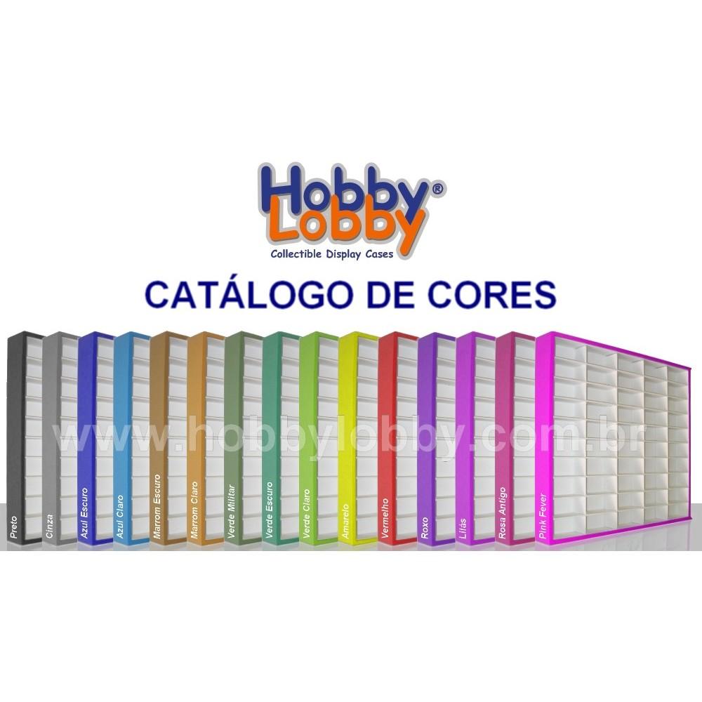 #50 DIECAST DISPLAY CASE - 1:64 [Cor: Vermelha]  - Hobby Lobby CollectorStore