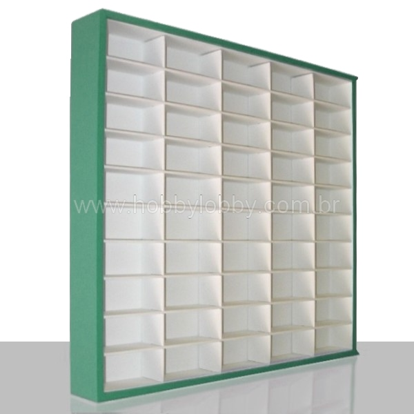#50 DIECAST DISPLAY CASE - 1:64 [Cor: Verde]